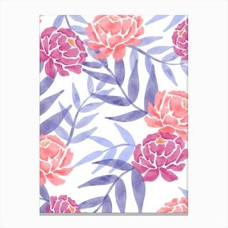 Watercolor Florals Canvas Print