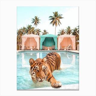Cabana Tiger Canvas Print