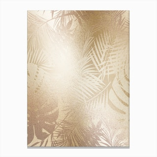 Gold On Gold Leaves Canvas Print