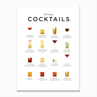 Whiskey Cocktails Canvas Print