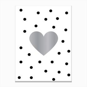 Heart Silver Canvas Print