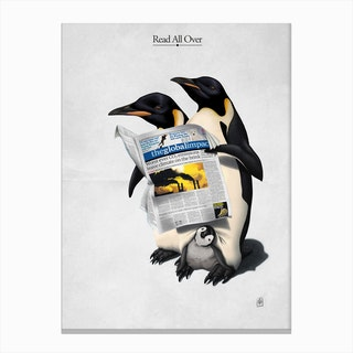 Read All Over Canvas Print