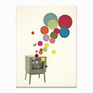 Colour Television Canvas Print