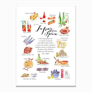 Tapas Spain Canvas Print