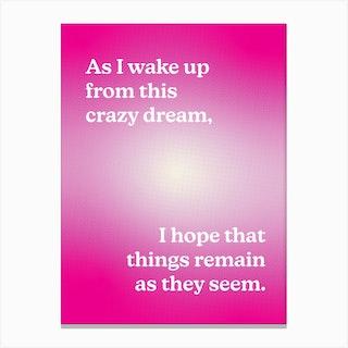 Crazy Dream 2 Canvas Print