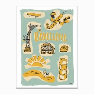Welcome Barcelona Canvas Print