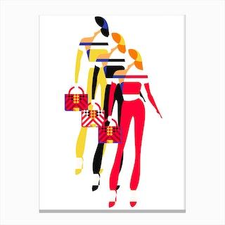 Stylish Women Canvas Print