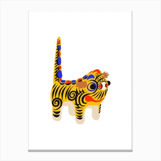 Hariko No Tora Tiger Doll Canvas Print