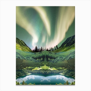 Emerald Aurora Canvas Print
