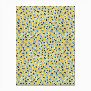 Painterly Dot Print Canvas Print