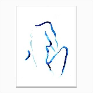 Blue Woman III Canvas Print