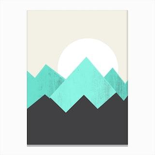 Pastel Mountains IV Canvas Print