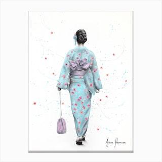 Spring Blossom Walk Canvas Print