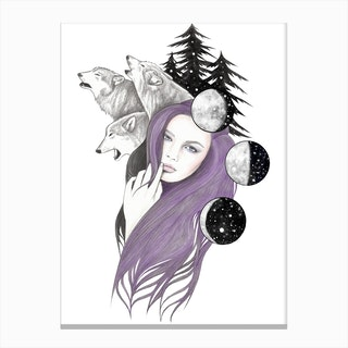 Three Moons Canvas Print