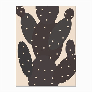 I Own A Black Cactus Canvas Print