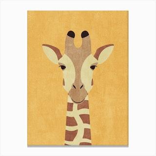 Fauna Giraffe Canvas Print
