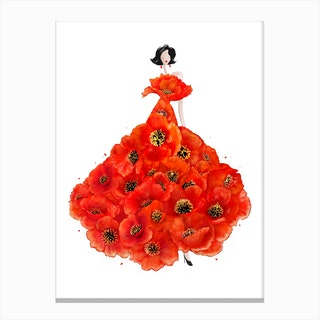 Fashion Poppies Canvas Print