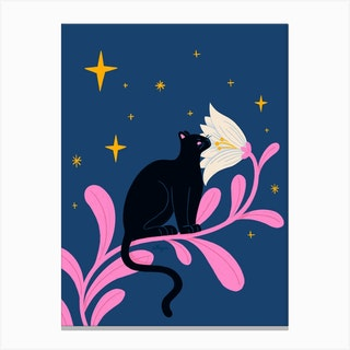 Night Panther Canvas Print