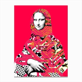 Mona Lisa Platina Canvas Print