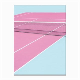 Pinkcourt Net Canvas Print