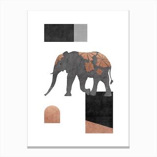 Elephant Mosaic Ii Canvas Print