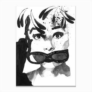 Audrey Feathers Canvas Print