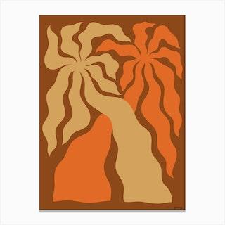 Larchmont Village Brown Canvas Print