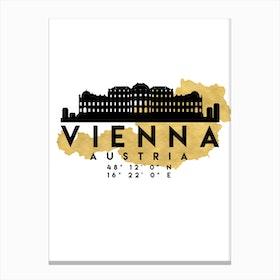 Vienna Austria Silhouette City Skyline Map Canvas Print