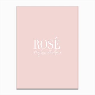 Rose Is My Favourite Canvas Print