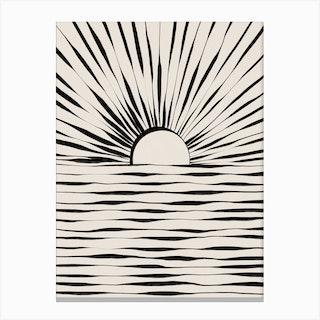 Minimal Sunrise And Sunset Canvas Print