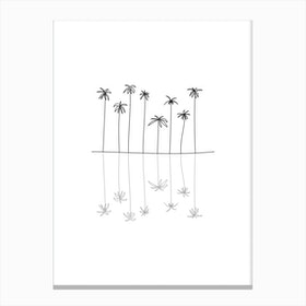 Palm Reflection Canvas Print