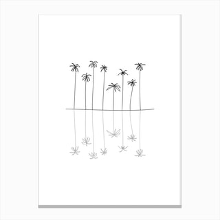 Palm Reflection Canvas Print