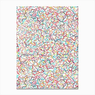Water Drawings White Canvas Print