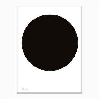 Black Dot Canvas Print