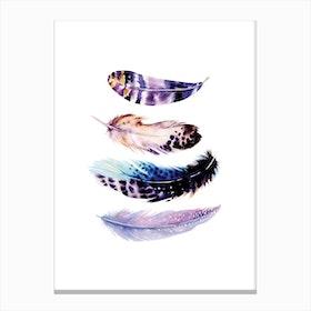 Purple Feathers Canvas Print