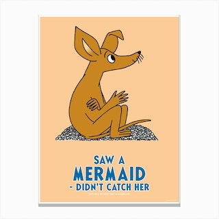 The Moomin Collection Mermaid Canvas Print