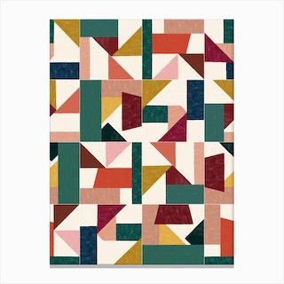 Tangram Wall Tiles 01 Canvas Print