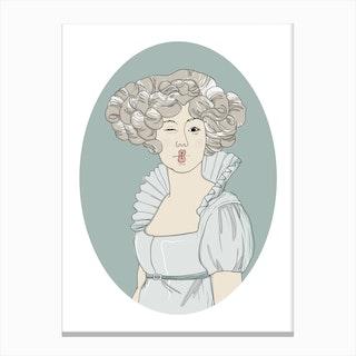Victorian Violetta Canvas Print