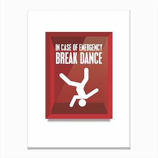Breakdance Canvas Print