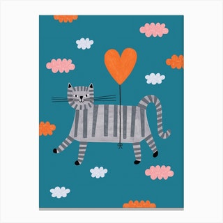 Love Cat Canvas Print