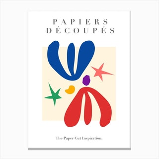 Paper Cut Outs   Musem Of Modern Art Canvas Print