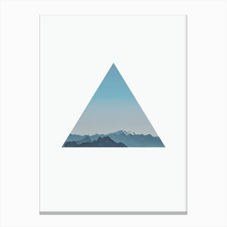 Triangle Mountain Cutout Canvas Print