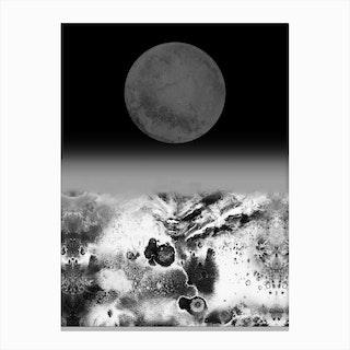 Walking On Lunar Canvas Print