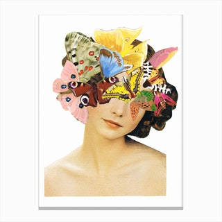 Be Beautiful Butterlies Canvas Print