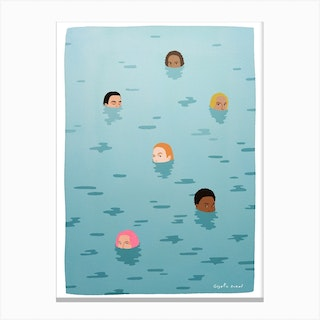 Swimming Together Canvas Print