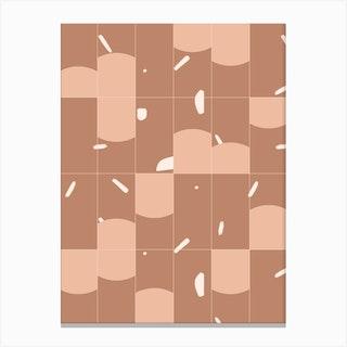 Earthy Tiles 01 Canvas Print