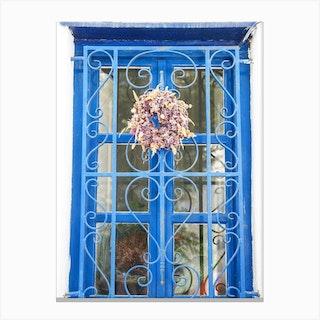 Mykonos Window Canvas Print