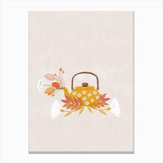 Fall Teapot Canvas Print