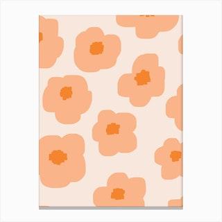 Sookie Floral Peachy Pink Canvas Print