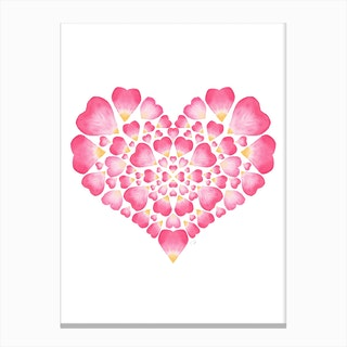 I Heart You Art 2 Canvas Print